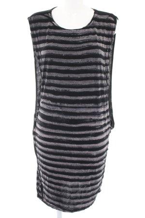 Jerseyjurk zwart-wit gestreept patroon casual uitstraling
