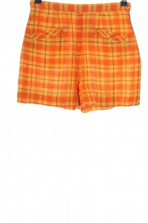 Tintoretto Short taille haute orange clair-jaune primevère imprimé allover