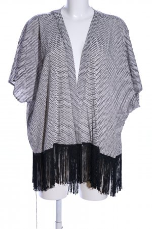 Tintoretto Kimono white-black allover print casual look