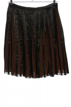 Tintoretto Pleated Skirt black-brown casual look