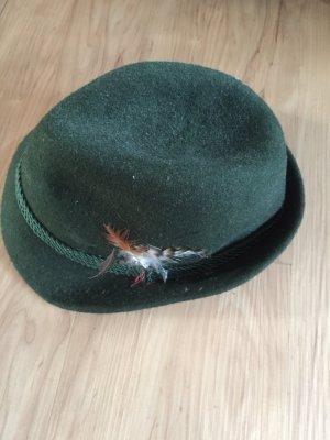 Folkloristische hoed bos Groen-donkergroen