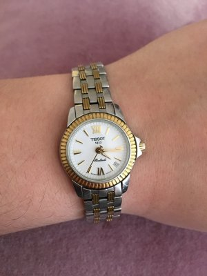 Tissot Analog Watch silver-colored-gold-colored