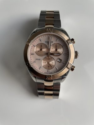 Tissot Watch With Metal Strap silver-colored-rose-gold-coloured