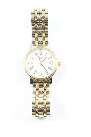 Tissot Reloj con pulsera metálica color plata-color oro look casual