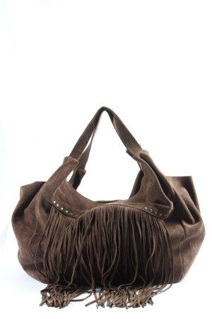 Titi Couture Sac à franges brun style décontracté