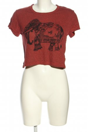 Title unknow Cropped Shirt rot meliert Casual-Look