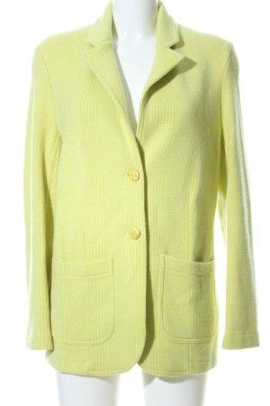 Titti Dell'Acqua Blazer tejido verde estampado a cuadros look casual