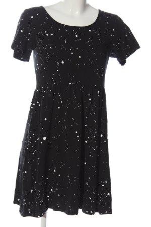 Titus Sukienka typu babydoll czarny-biały Na całej powierzchni W stylu casual