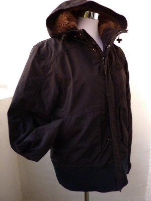 TITUS Winterjacke schwarz mit Teddyfell L 42 sportive Jacke