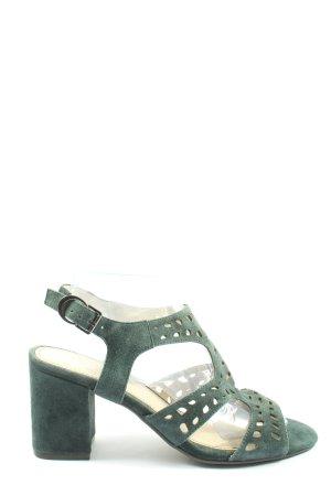 Tizian Platform High-Heeled Sandal khaki elegant