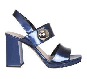 TJ Collection Romeinse sandalen blauw Leer