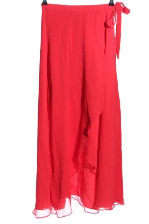 Falda cruzada rojo estilo «business»