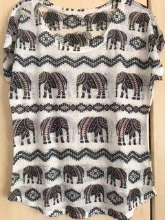 TK MAXX | T-Shirt mit Elefantenmotiv