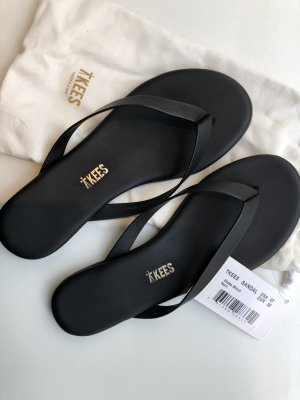 TKEES The Boyfriend Vegan Flip-Flop/black matte 38
