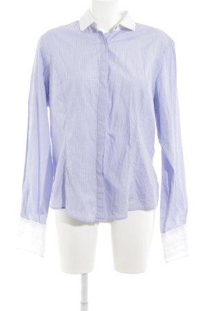 TM Lewin Langarm-Bluse blau-weiß Nadelstreifen Business-Look