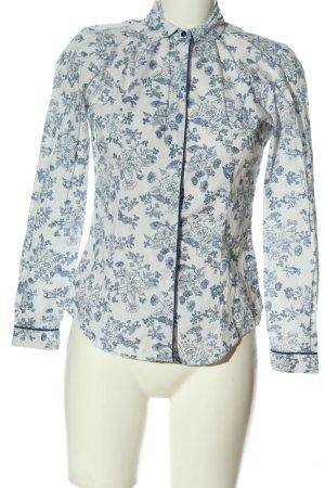 TM Lewin Camicia a maniche lunghe bianco-blu stampa integrale stile casual