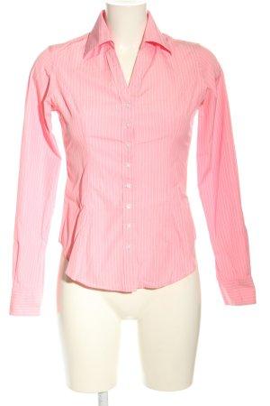 TM Lewin Langarmhemd pink-weiß Allover-Druck Business-Look