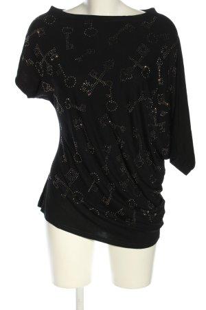 TN T8 Koszulka z dekoltem woda czarny W stylu casual