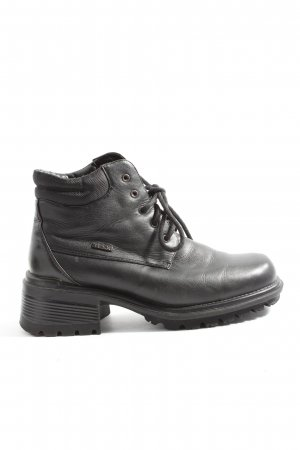 tobago Lace-up Booties black casual look