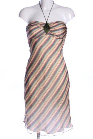 Tocca Vestido de cuello Halter estampado a rayas look casual