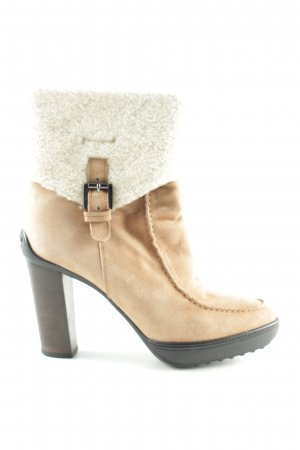 Tod's Absatz Stiefel creme Casual-Look