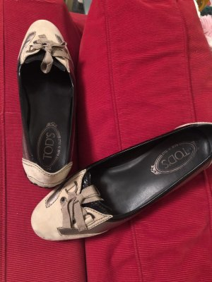Tod's Lakleren ballerina's zwart-room