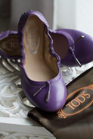 Tod's Classic Ballet Flats dark violet