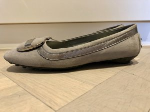 Tods Strappy Ballerinas grey