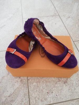 Tod's Ballerines pliables violet-violet foncé