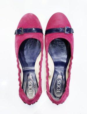 TOD'S Ballerinas Leder, fuchsia