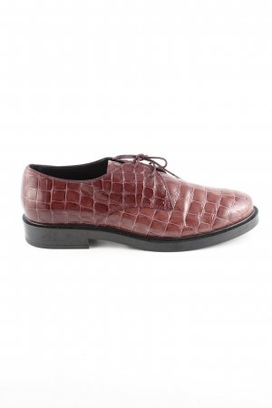 Tod's Wingtip Shoes brown animal pattern casual look