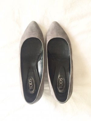 Tod's Wedge Pumps dark grey-grey