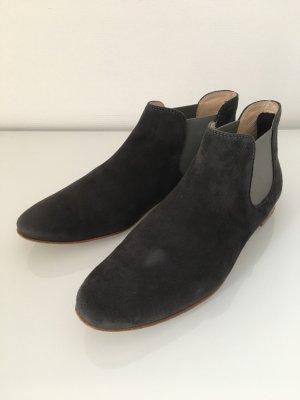 Tod's Chelsea Boots dunkelgrau Veloursleder Gr. 36,5