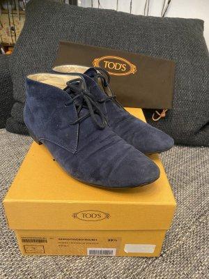 Tod's Designer Loafer  Velour blau Top 39,5 Np 490€