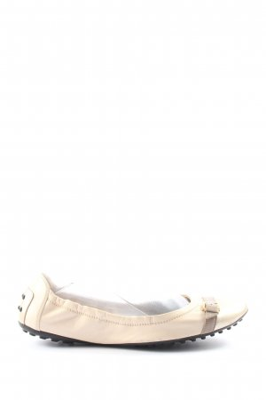 Tod's Foldable Ballet Flats natural white casual look