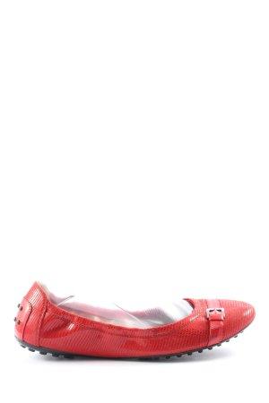 Tod's Składane baleriny czerwony W stylu casual