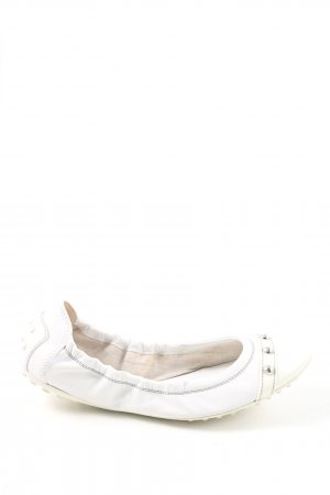 Tod's Bailarinas plegables blanco look casual