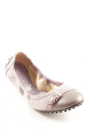 Tod's faltbare Ballerinas blasslila-silberfarben Casual-Look