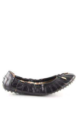 Tod's Ballerines pliables noir style décontracté