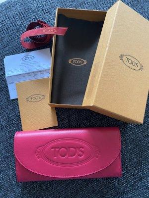 Tod's Geldbörse in pink- orange, nagelneu
