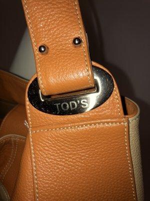 Tod's Borsa con manico beige-arancione scuro