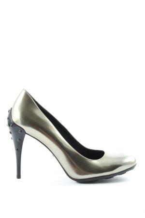 Tod's High Heels silberfarben extravaganter Stil