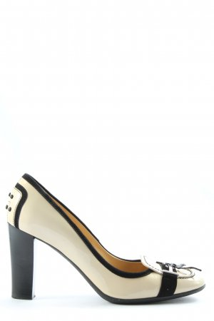 Tod's High-Front Pumps natural white-black casual look