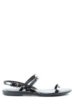 Tod's Komfort-Sandalen schwarz Casual-Look