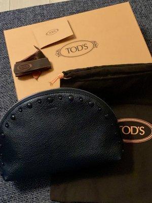 Tod's Kosmetiktasche schwarz mit Noppen- neuwertig