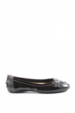 Tod's Patent Leather Ballerinas black casual look