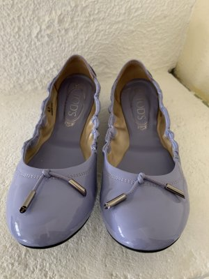 Tod's Patent Leather Ballerinas purple