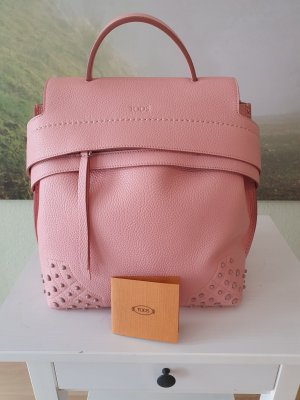 Tods Backpack Trolley pink leather