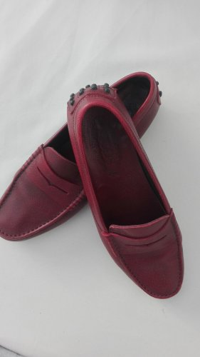 Tods Slippers dark red-bordeaux