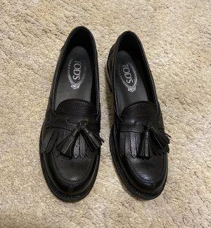 Tod's Loafer Schwarz Leder 37